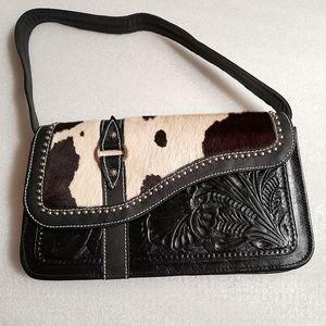 American West Cow Hide black purse